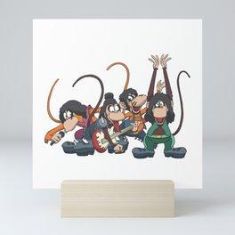 Monkey Rock Band Mini Art Print