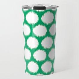 Jade Asian Moods Ikat Dots Travel Mug