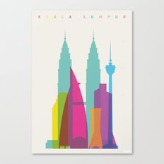 Shapes of Kuala Lumpur. Accurate to scale Canvas Print