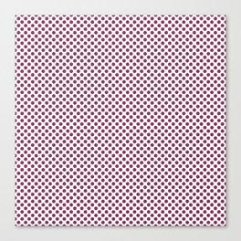 Boysenberry Polka Dots Canvas Print