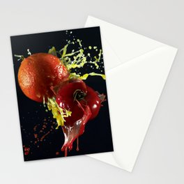 Fruits splash Stationery Cards