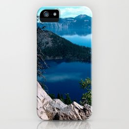 Volcano Deep Blue Crater Lake Oregon USA iPhone Case