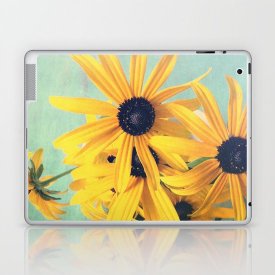 Sweet Yellow Flowers Laptop & iPad Skin