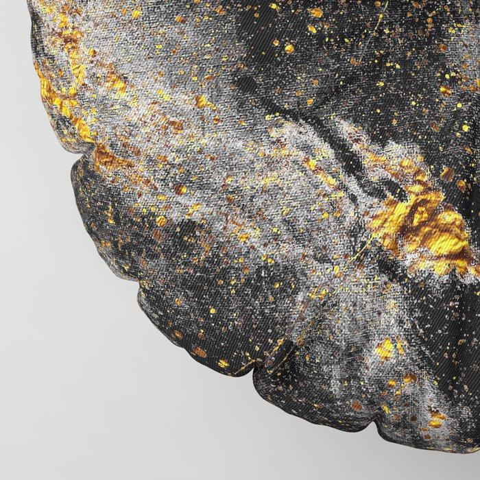 Galaxy (black gold) Floor Pillow