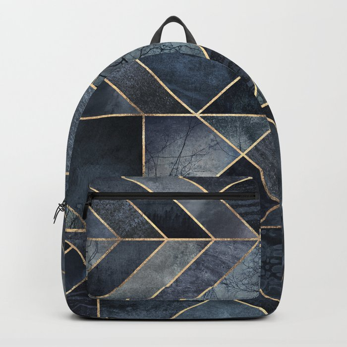 Abstract Nature - Dark Blue Backpack