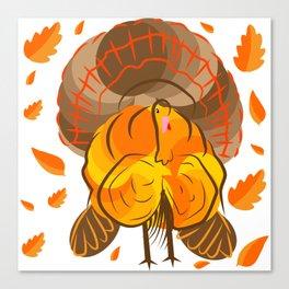 Happy Turkey Thanksgiving Day Canvas Print