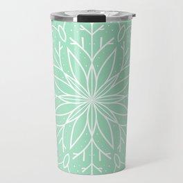 Single Snowflake - Mint Green Travel Mug