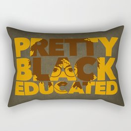 Pretty, Black and Educated African American Black College Woman Rectangular Pillow