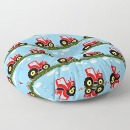 Toy tractor pattern Floor Pillow
