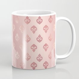 Rose Gold Fancy Spades Pattern Coffee Mug