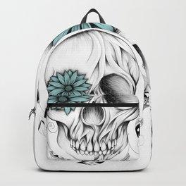 Poetic Wooden Skull Backpack