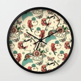 Born to Meow Wall Clock