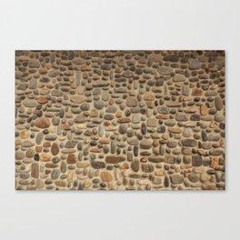 Mosaic Pebble Wall Canvas Print