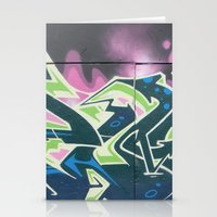 graffiti Stationery Cards featuring Graffiti by Chrissy Gensch
