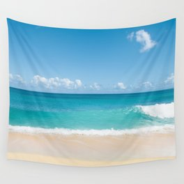 Turquoise wave Wall Tapestry