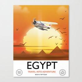 Egypt vintage style flight poster Canvas Print