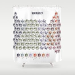 e.lements of Star Wars Episodes I, II, and III Shower Curtain