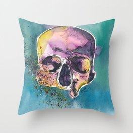 Colorful Skull 5 Throw Pillow