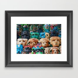 The Masks of Chichen Itza Framed Art Print