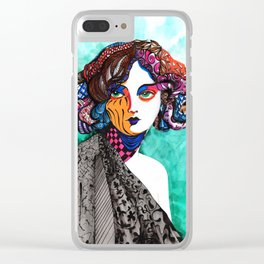 """""""When the muse come to visit"""" Clear iPhone Case"""