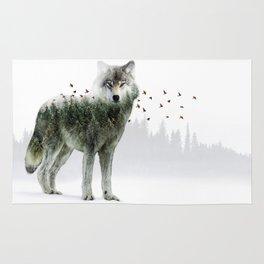 Wild I Shall Stay   Wolf Rug