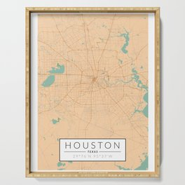 Houston Map - Color Serving Tray