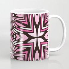 Pink Black and WHite Abstract Mug