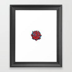 Oldschool Rose Love Framed Art Print