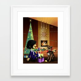 A JW Christmas Framed Art Print