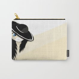 Cracked - White & Cream Carry-All Pouch
