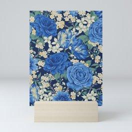 British chintz floral pattern Mini Art Print