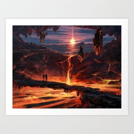 MTG - Valakut Exploration Art Print