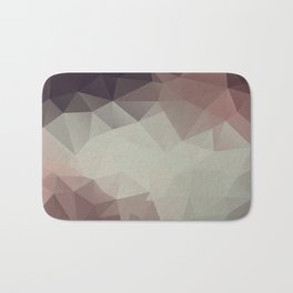 Gray brown abstract polygonal pattern triangles . Bath Mat