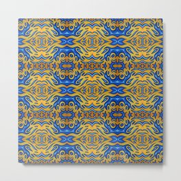 jello blue abstract pattern Metal Print