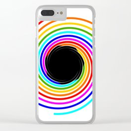 Rainbow Galaxy with Black hole inside Clear iPhone Case