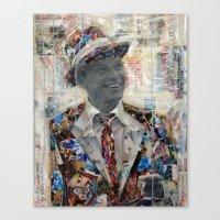 frank Canvas Prints featuring Frank by Katy Hirschfeld