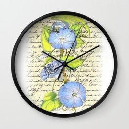 Morning Glory Dragon Wall Clock