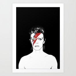D. Bowie Tribute Art Print