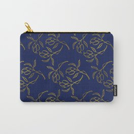 Golden olive branches NAVY Carry-All Pouch