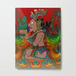 Yucatan Psychedelic Mexicano Visiones Metal Print