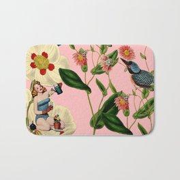 Big Flowers dream pink Bath Mat