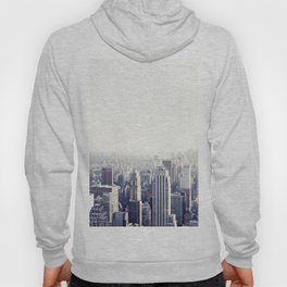New York, The Empire State on black and white Hoody