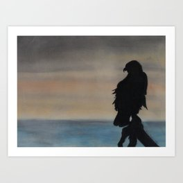 Tranquil Eagle Silhouette Art Print
