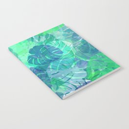 monstera leaves tropical 2 Notebook