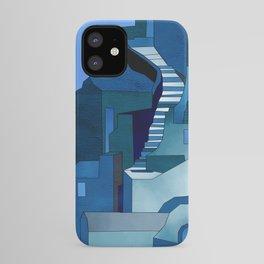 greece santorini abstract illustration iPhone Case