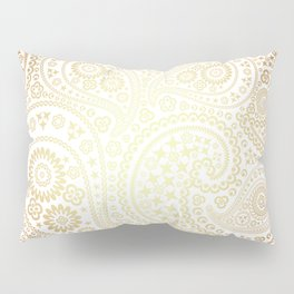 Metallic Bronze Sun Toned Paisley Pattern Pillow Sham