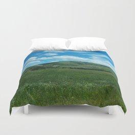 green and blue rapsody Duvet Cover