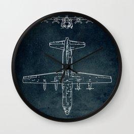 LOCKHEED C-130 HERCULES - First flight 1954 Wall Clock