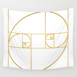 Golden Oval Wall Tapestry