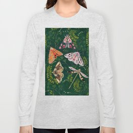 Moths and dragonfly Long Sleeve T-shirt